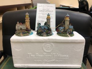 Eleventh Issue in the Thomas Kinkade's Illuminated lighthouse Lighthouse Ornament Collection. for Sale in Industry, CA