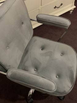 Grey Suede Desk/vanity Chair for Sale in Carson,  CA