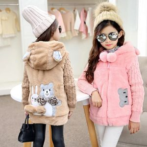 New Girls Cartoon bear Baby Coats for Girls winter warm Jackets For winter Kids Clothes Artificial hair thickening Outwear for Sale in Orlando, FL