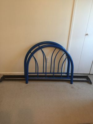 Twin bed frame with mattress and box spring for Sale in Manassas, VA