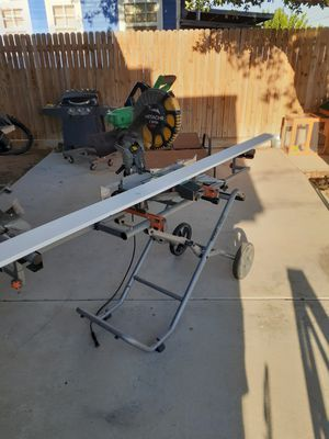 Hitachi compound miter saw with Rigid rolling stand for Sale in Midland, TX