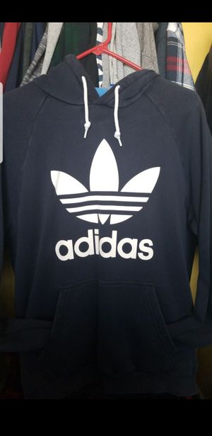 Large Adidas trefoil navy blue hoodie for Sale in Moreno Valley, CA