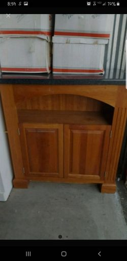 Cherry wood cabinet with black cesarstone top for Sale in Benicia,  CA
