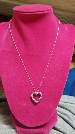 BEAUTIFUL DAIMOND HEART PENDANT AND TOAPZ HEART PENDANT WITH CHAIN COMBO for Sale in Fairfax, VA
