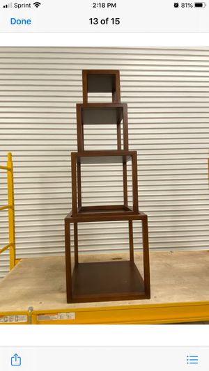 Wood Cube display shelf for Sale in Fort Myers, FL
