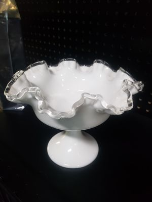 Gorgeous Fenton milk glass candy dish for Sale in Orlando, FL
