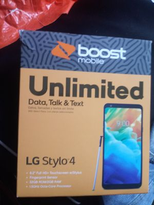 LG Stylo 4 with Charger, Case, and Wireless Bluetooth Headset for 125, 100 bucks without the headphones for Sale in Chicago, IL
