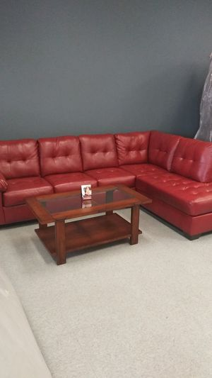 Red sectional couch for Sale in Grove City, OH