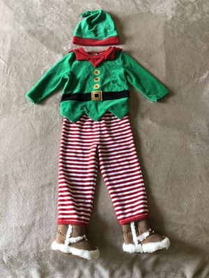 Santa's Helper ELF costume boy-girl 12-18M for Sale in Irving, TX
