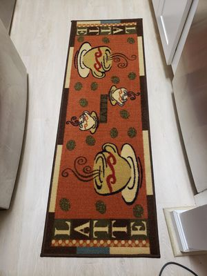 Kitchen rug mat coffee theme for Sale in Odenton, MD
