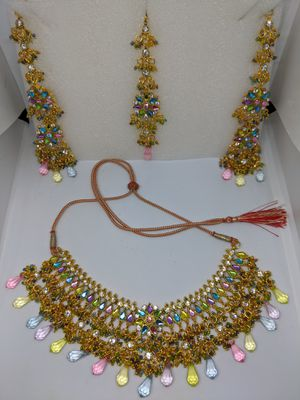 3-piece Vintage Bollywood Indian Costume Jewelry Wedding set for Sale in Everett, WA