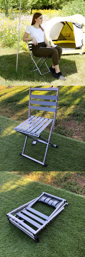 New RedCamp Folding Stool With Back rest Chair for Camping Fishing Park Picnic for Sale in Moreno Valley, CA