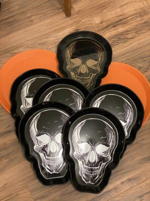 Halloween Skull and Spider Party Trays for Sale in El Monte, CA