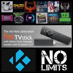 Amazon FireStick Unlocked KODI With All TV Movies PPV Sports XXX and Games Nintendo Sega Etc Free Customer Service for Sale in Hemet,  CA