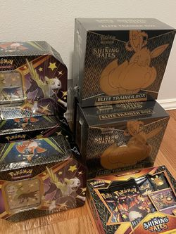 Pokemon Shining Fates Elite Trainer Box, Tin, Pin, ETB for Sale in North Bend,  WA
