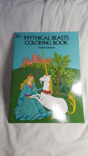 1980s UNUSED Dover Coloring Book Mythical Beasts for Sale in Tukwila, WA