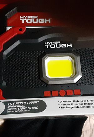 Hyper tough rechargeable worklight with bluetooth speaker for Sale in Vancouver, WA
