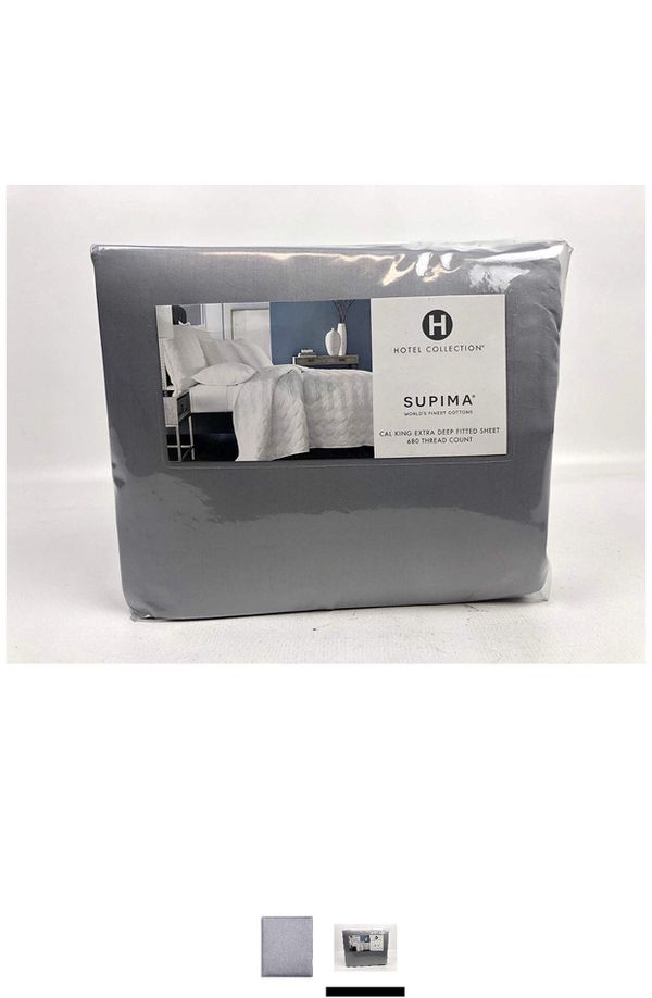 Hotel Collection 680 Thread Count Supima Cotton California King Extra Deep Fitted Sheet Marble