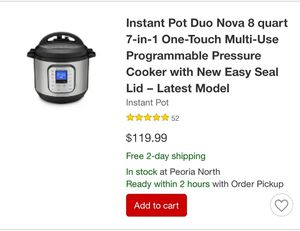 Instant pot New In Box for Sale in Glendale, AZ