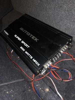 Auto Tek car amplifier. 2000 watt for Sale in Turtle Creek, PA