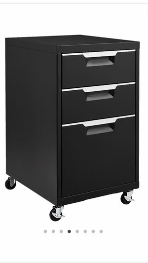 CB2 3 Drawer Black File Cabinet for Sale in Chicago, IL