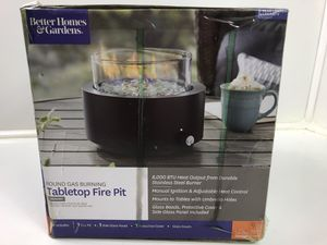 New BHG Gas Burning Tabletop Fire Pit for Sale in Lumberton, TX