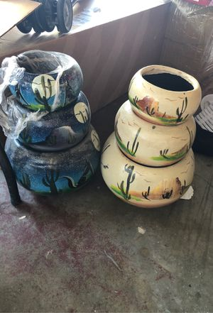 Flower pot set of 3 for Sale in Pomona, CA