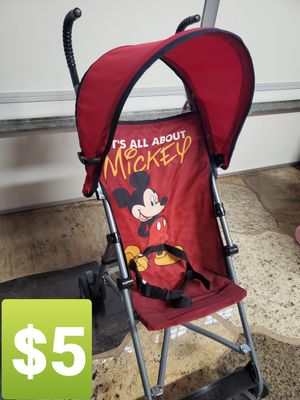 MICKEY MOUSE STROLLER $5 for Sale in Corona, CA
