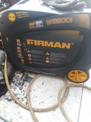 Firman generator 3200start 2900 running for Sale in Brentwood, CA