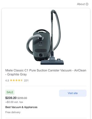 Miele C1 Pure Suction for Sale in Los Angeles, CA