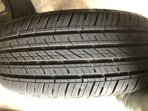 Only driven on for one week 235/55/r18 tires and chrome rims from a 2014 Dodge Charger. for Sale in Decatur, GA