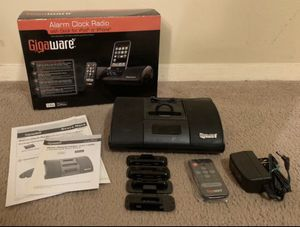 In Box Gigaware Alarm Clock Radio With Dock for iPod or iPhone, Remote Control & Owner Manual Included for Sale in Raleigh, NC