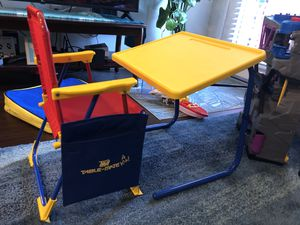 Kids desk table mate portable school station with chair for Sale in San Diego, CA