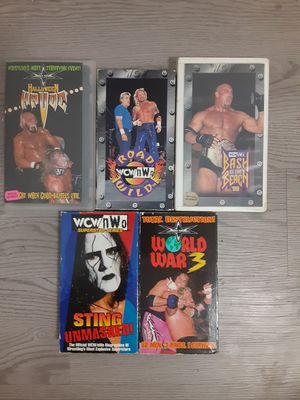 WCW VHS Lot of 5 Pay Per Views for Sale in San Antonio, TX