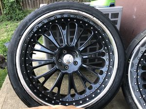 "24"" Black Rims-Full set of 4, 5-lug for Sale in Suitland-Silver Hill, MD"