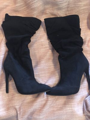 Size 6 black suede boots for Sale in Thornton, CO