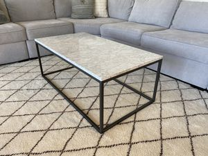 West Elm coffee table - marble top for Sale in Manteca, CA