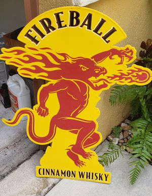Large fireball bar sign for Sale in Weston, FL