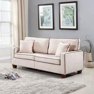 Divano Roma Modern Two Tone Velvet Fabric Living Room Love Seat Sofa for Sale in Alexandria, VA