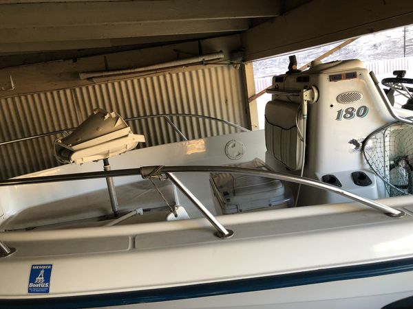 Omc Neptune 1997 Fishing Boat (proof of maintenance) 18 foot boat Comes with New Galvanized Trailer 115 Horse Power /power Trim Bate Tank Tags on t