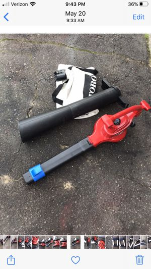 Toro electric leaf blower with vac attachment for Sale in Waterford Township, MI
