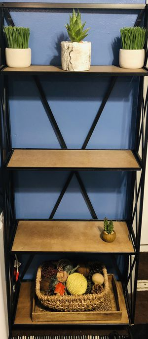 4 Tier Metal and wood Ladder Bookcase for Sale in Downey, CA