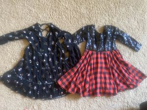 Cute fall dresses . Size 6-8 girls and flower grey dress . for Sale in Henderson, NV