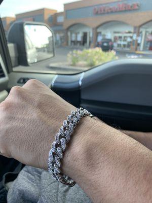 Men's bracelet silver plated for Sale in Tempe, AZ