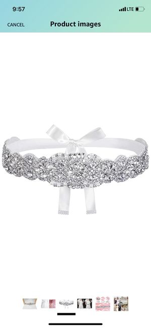 Bridal Crystal Braided Wedding Dress Sash Belt for Sale in Midlothian, VA