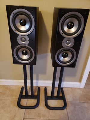 Polk Audio Monitor 40 Seies 2 Speakers with Stands for Sale in Taunton, MA