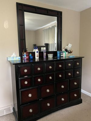 Bed Frame and Dresser for Sale in Buffalo, NY