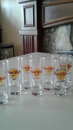 Hard rock collectable shot glasses for Sale in San Marcos, CA
