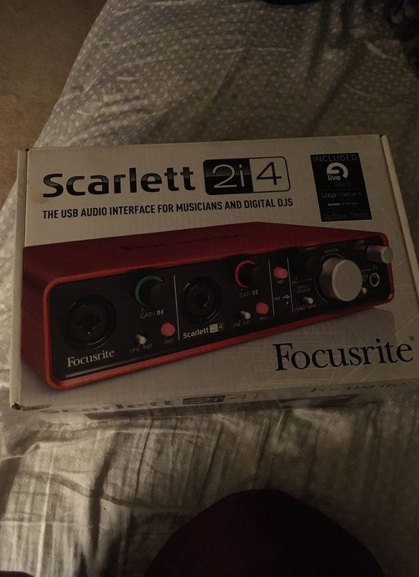 Focusrite 2i 4 audio interface.