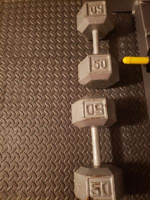 Dumbbells weights 2x50 lbs for Sale in Renton, WA
